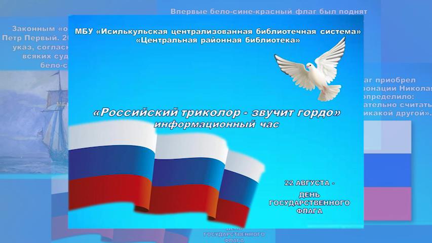 """Информационный час """"Российский триколор – звучит гордо"""""""